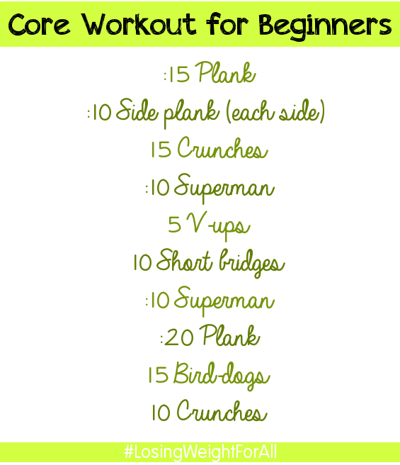 beginner core workout