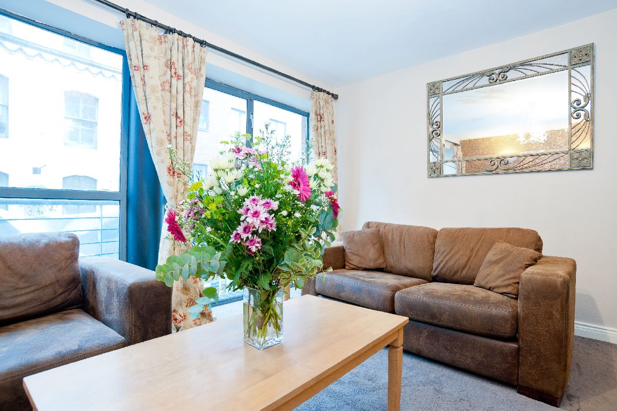 The sitting room of one of our one bedroom apts in Mellor