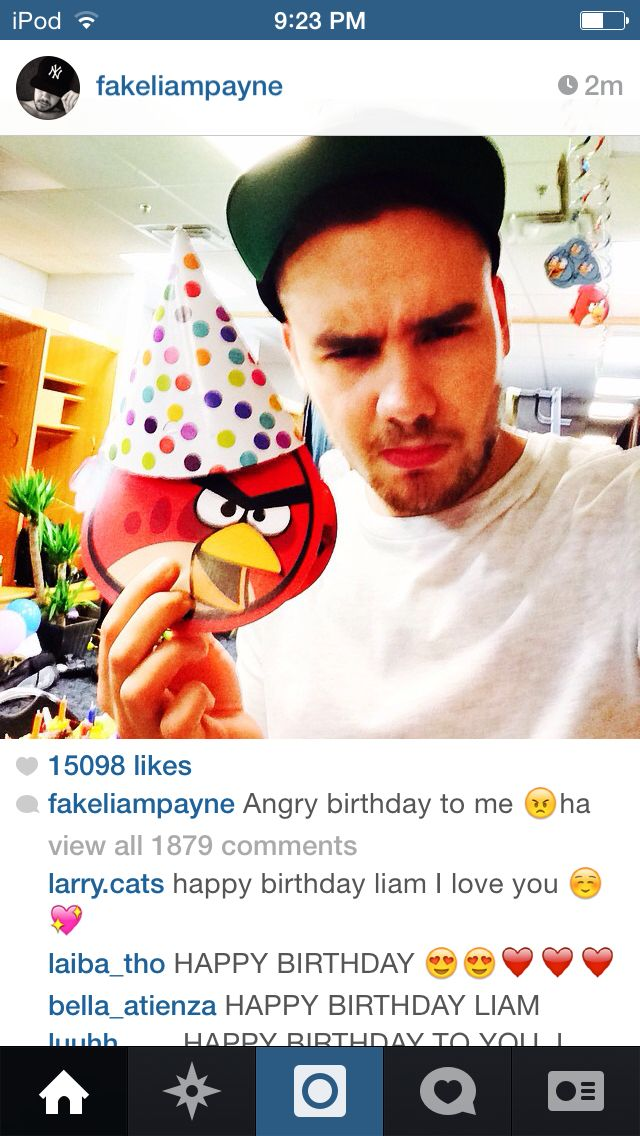 Liam's 21 today and he decides to have a angry birds party, this is the reason I love this boy