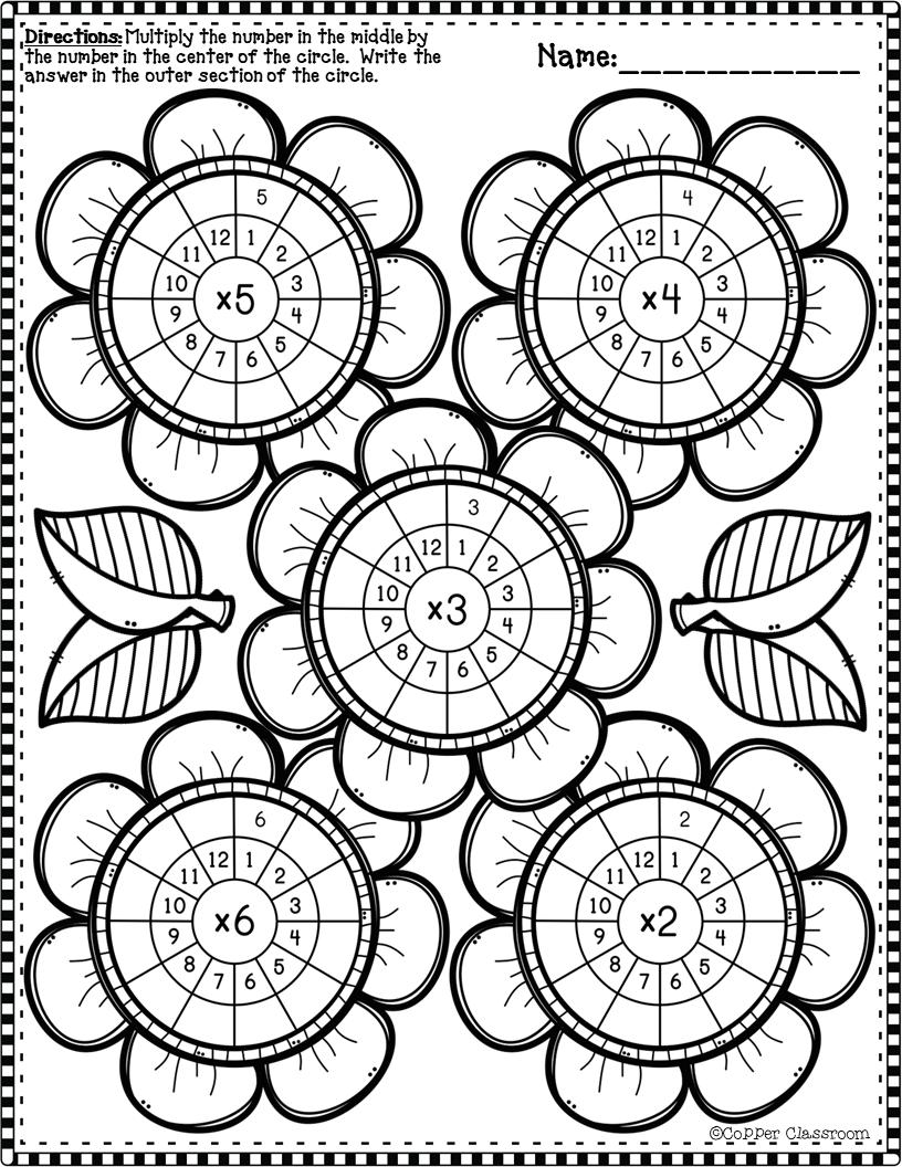 3 Oa 7 Spring Multiplication Wheels Multiplication Multiplication Wheel Kids Math Worksheets [ 1056 x 816 Pixel ]