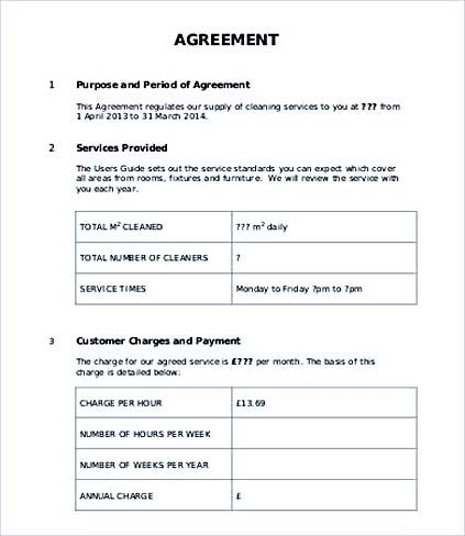 Customer Service Level Agreement Template  Service Level Agreement