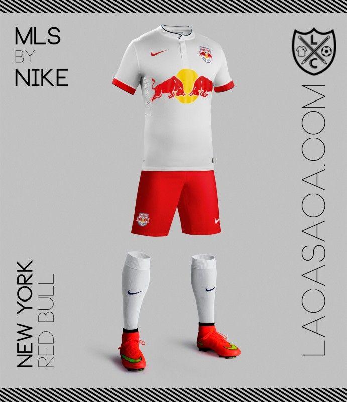 MLS by NIKE - N.Y Red Bull … Casacas Deportivas 834eed6adec