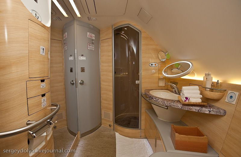 Emirates A380 Lavatory Airbus A380 Aircraft Interiors Airplane