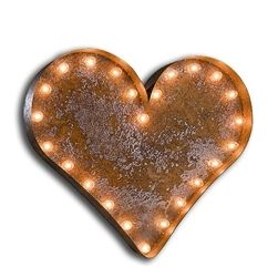 Vintage inspired Heart Lights. Very cool wall decor via @lovefeast #Valentine