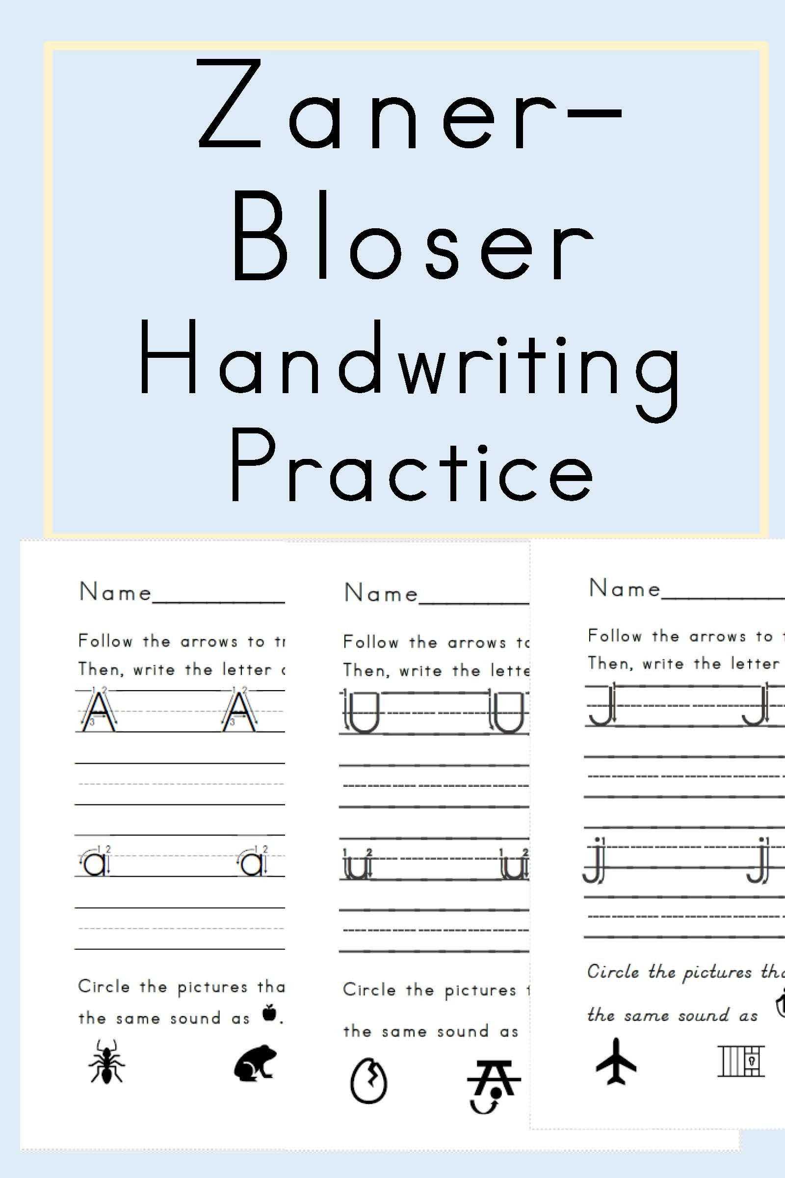 Zaner Bloser Handwriting With Student Reference Sheet Teaching Letters Letter Formation Letter Formation Practice