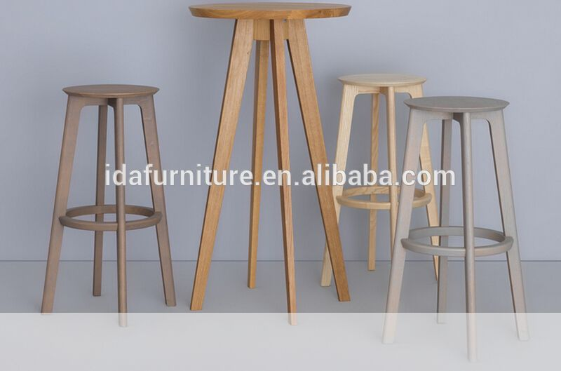 Elegant Wooden High Bar Table