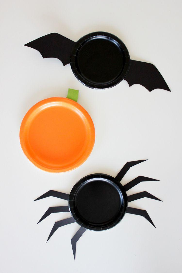 Homemade paper halloween decorations - Diy Halloween Paper Plates Free Templates