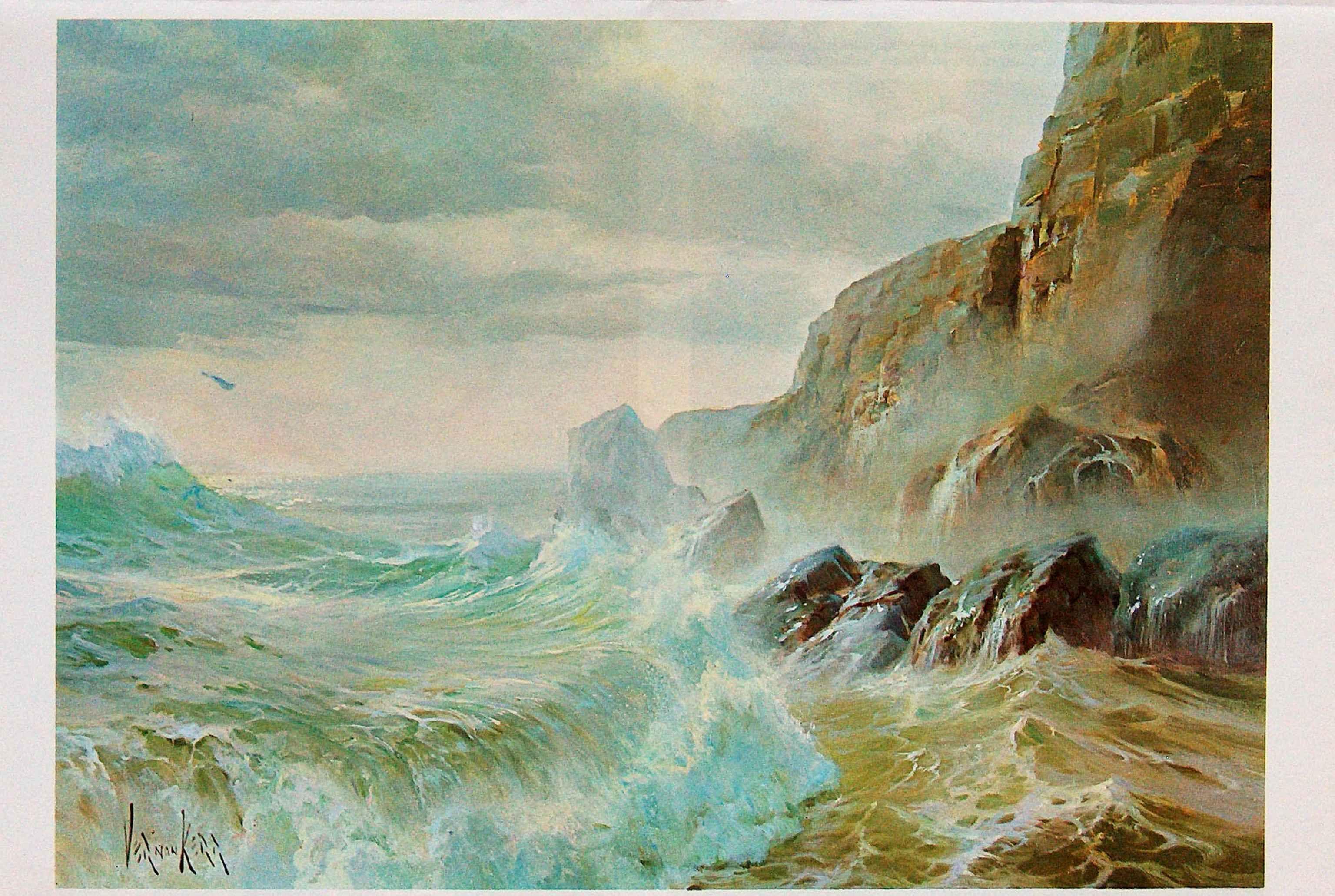 Boat In The Deep Sea Wallpaper In 2020 Art Painting Fantasy