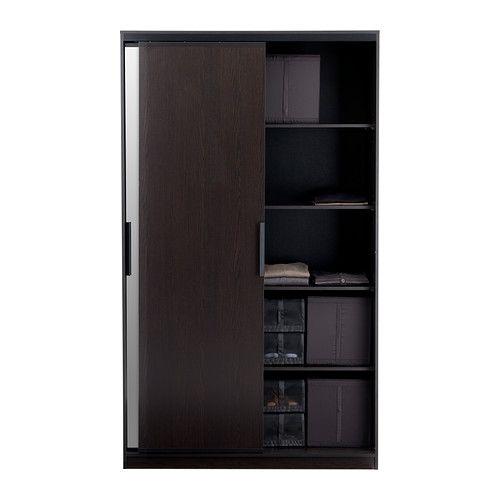 morvik wardrobe ikea sliding doors allow more room for. Black Bedroom Furniture Sets. Home Design Ideas