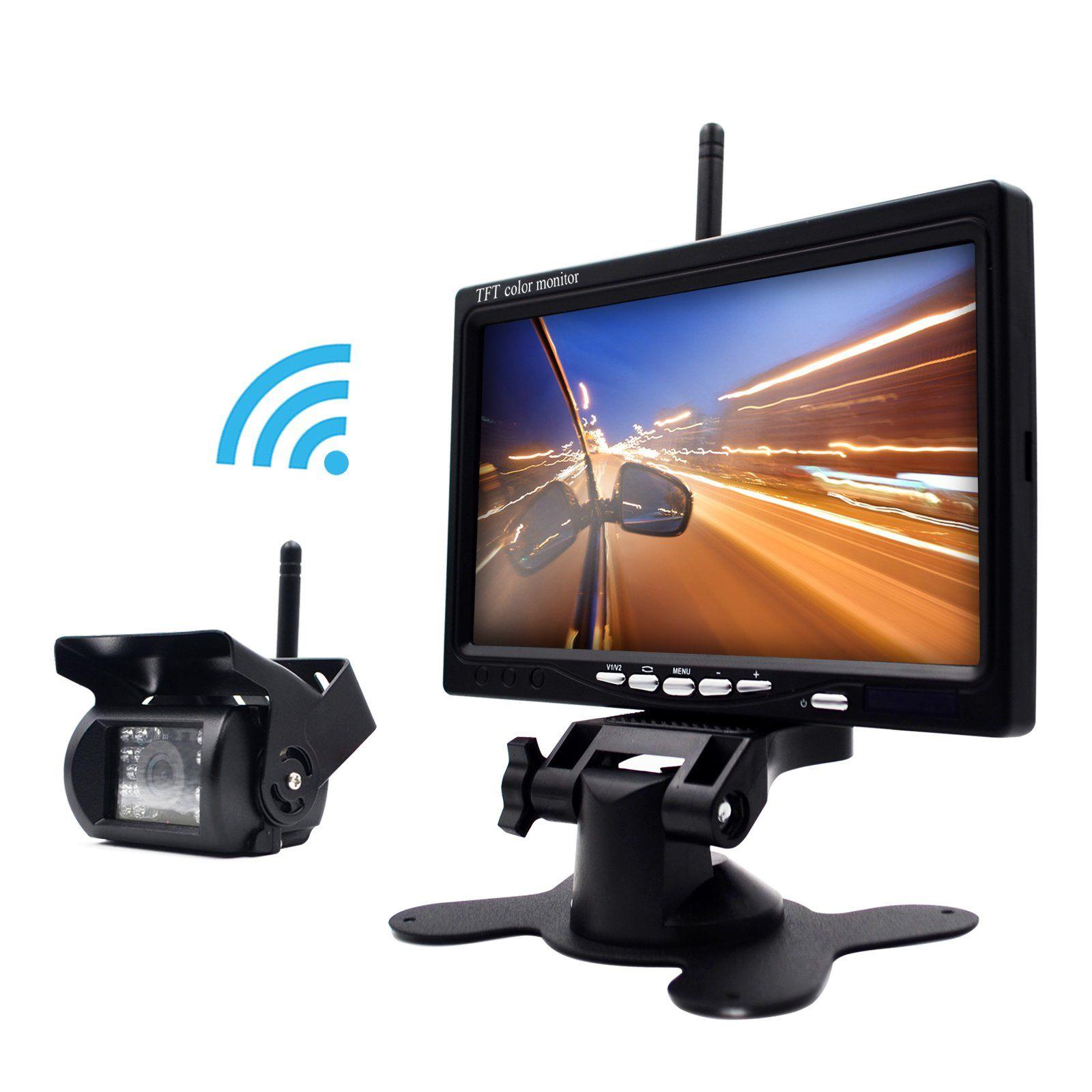 Erapta Erw01 Wireless 7 Inch Waterproof Backup Camera And Monitor System For Semi Trailer Box Truck Rv Trailer Mo Backup Camera System Backup Camera Car Camera