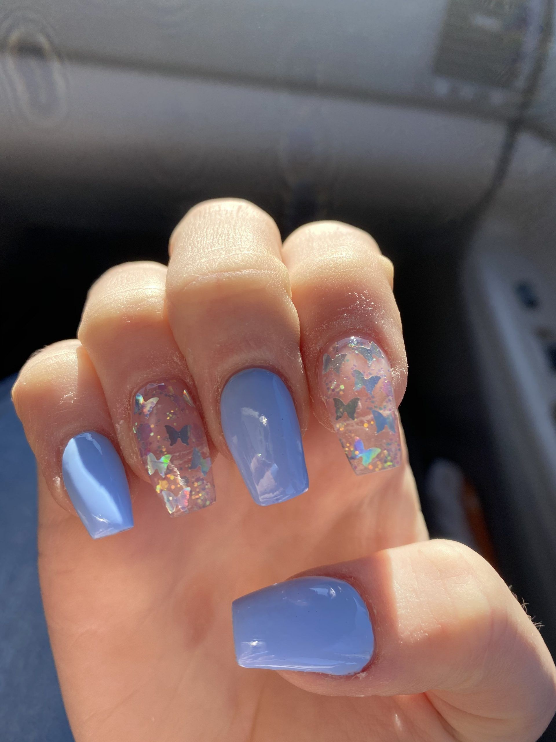 Icy Light Blue Nails 45 Pieces Of Amazing Frozen Nail Art 8 In 2020 Short Square Acrylic Nails Pink Acrylic Nails Acrylic Nails Coffin Short