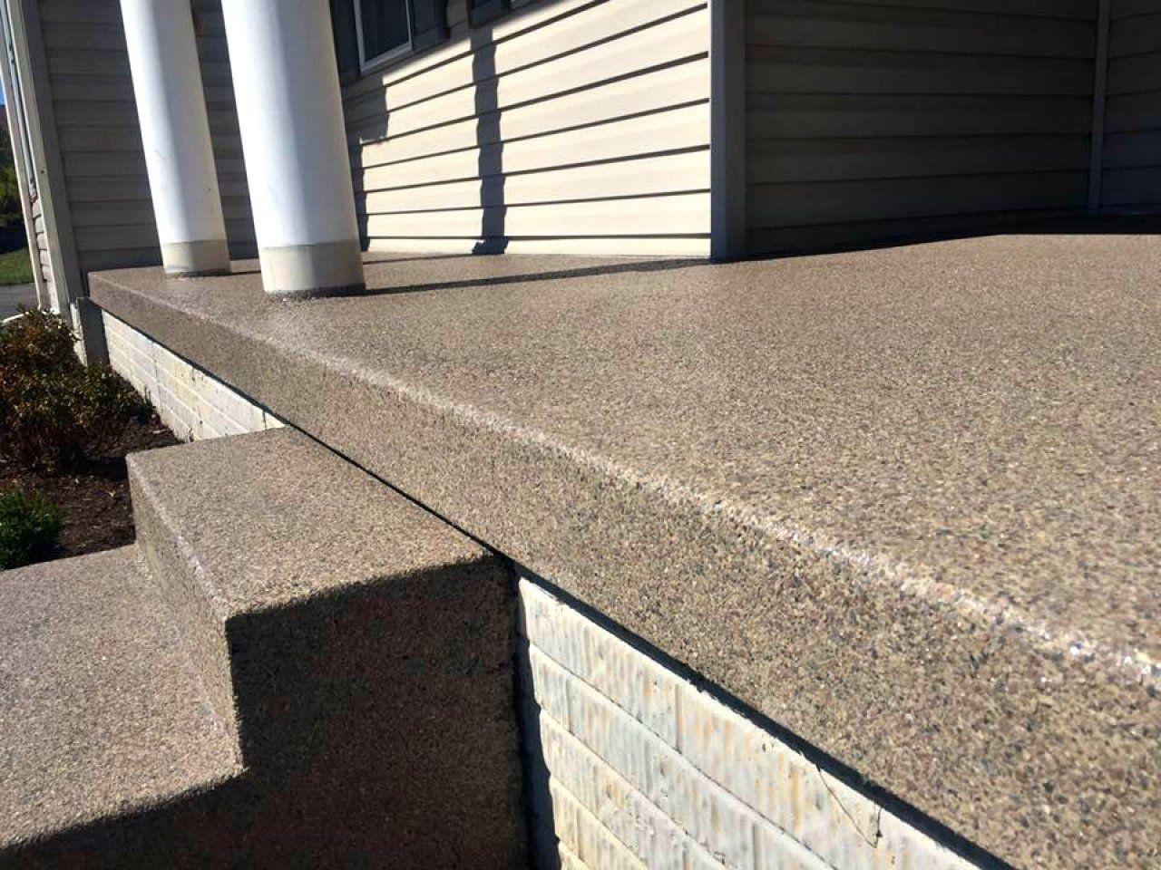 Porch With Steps Concrete Resurfacing Morgantown Wv