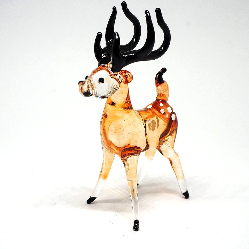 Donkey Hand Blown Glass Figurine Miniature Farm Animal Handmade Art Decor New