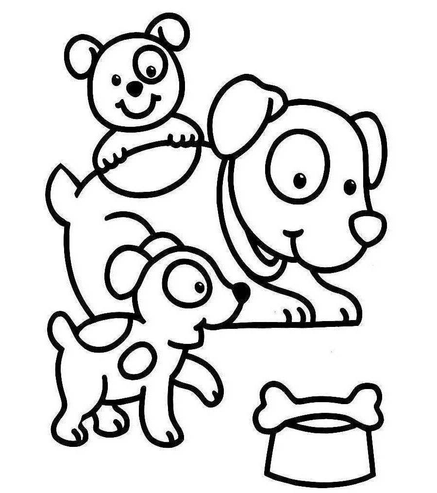 Dibujos de perros para colorear. Dibujos de razas de perros para ...