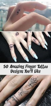 Photo of 50 Amazing Finger Tattoo Designs You'll Like – Tattoos and Body Art  Amazing F…