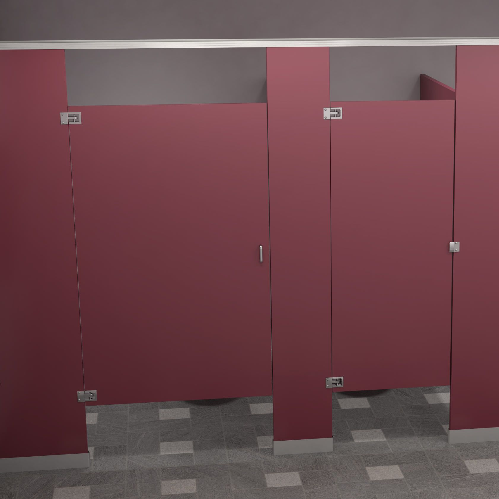 Code materials for public restroom compartments are