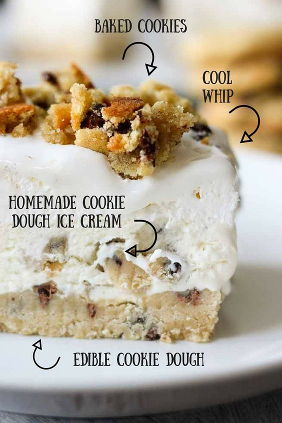 These cookie dough ice cream bars are a a delicious way to cool off this summer! Soo tasty!