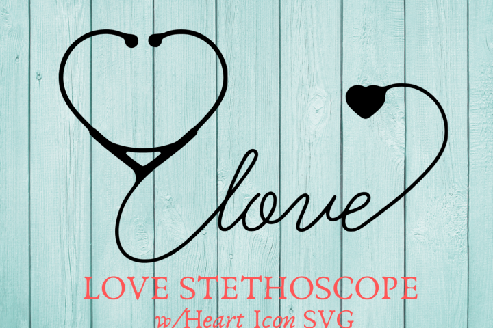 Love Stethoscope With Heart Icon SVG Graphic design