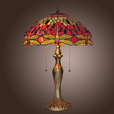 Tiffany--style Jewel Pink Table Lamp(0923-T26) – USD $ 259.99