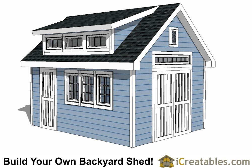 10x16 Shed With Dormer Roof Plans Shed Design Diy Shed Plans Shed Plans 12x16