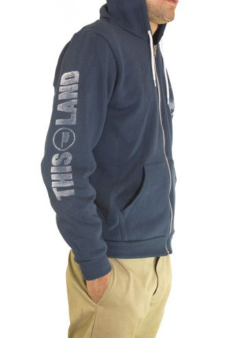 This Land Press hoody. Fitted and sporty construction with 50/50 Flex Fleece by American Apparel. $48