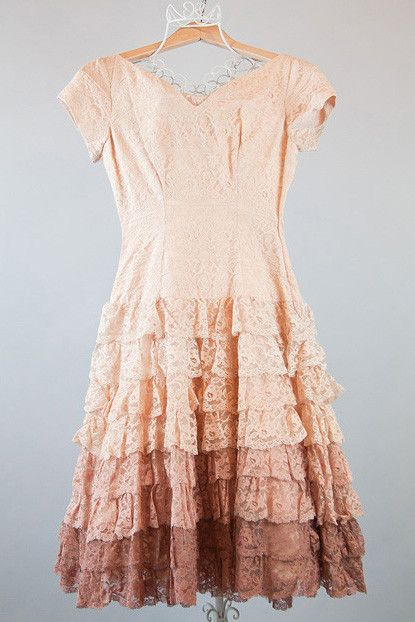 Vintage Ombre Ruffle