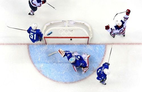 2014 - Slovenia Falls to the U.S. in Hockey.