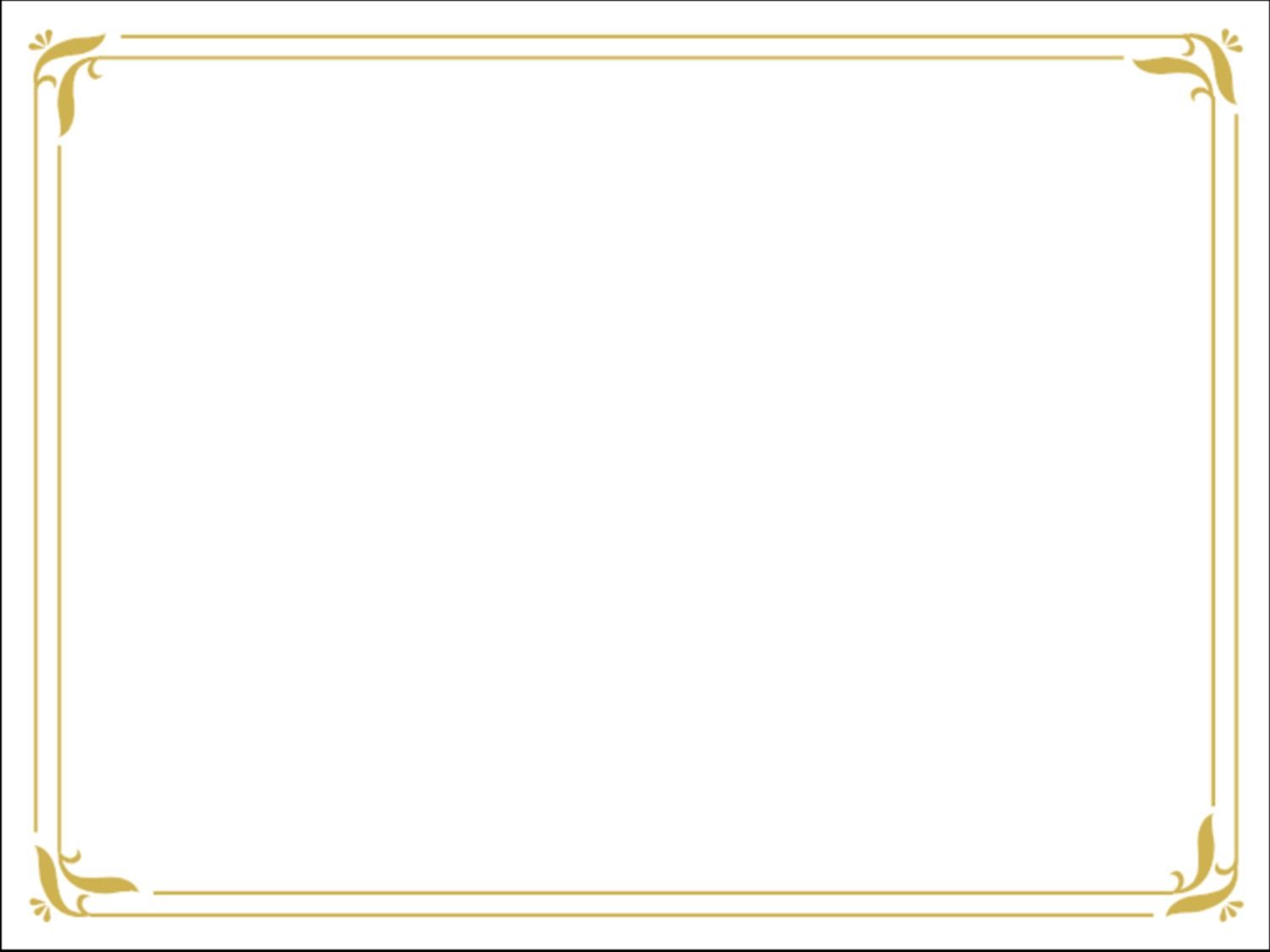 download simple gold certificate border ppt template from