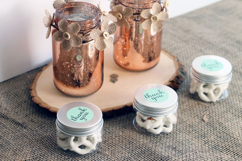 Wedding Favors In Jars Copper Wedding Theme Wedding Wedding