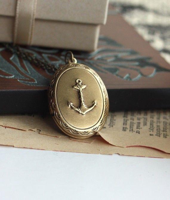 A Nautical Sailor Girl Locket Necklace 2490 Accesories
