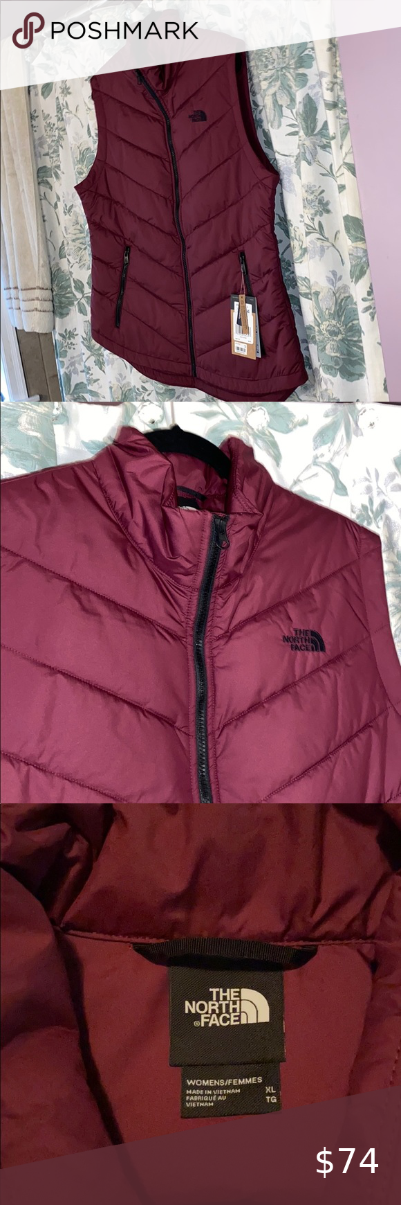 The North Face Burgundy Wine Faux Down Vest Burgundy Wine Down Vest Clothes Design [ 1740 x 580 Pixel ]
