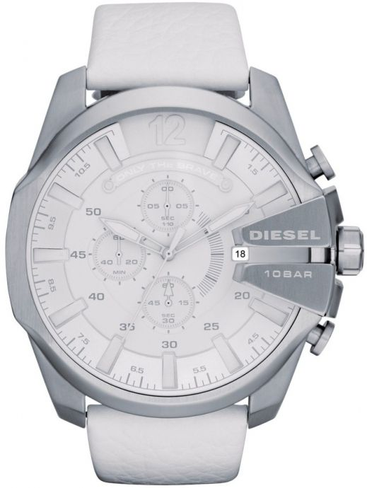 Diesel Mens Mega Chief White Strap Watch   Watches   Pinterest ... 625baf32ff