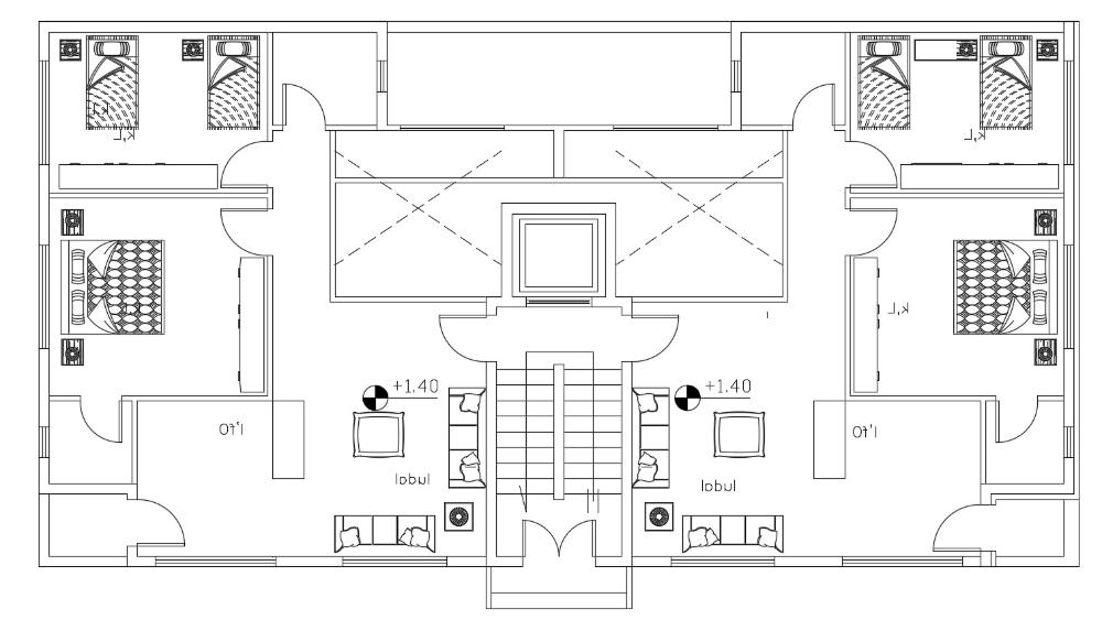 2 Bedroom Apartment Floor Plan DWG File 2 bedroom