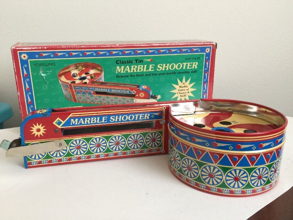 TIN MARBLE SHOOTER CLASSIC ARCADE GAME SCHYLLING'S ANTIQUE