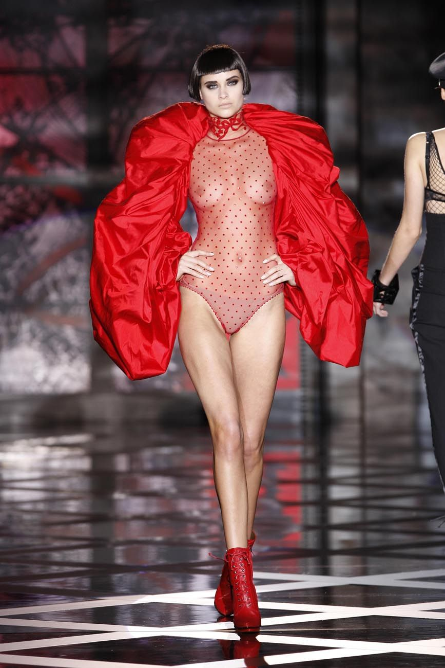 naked on the catwalk