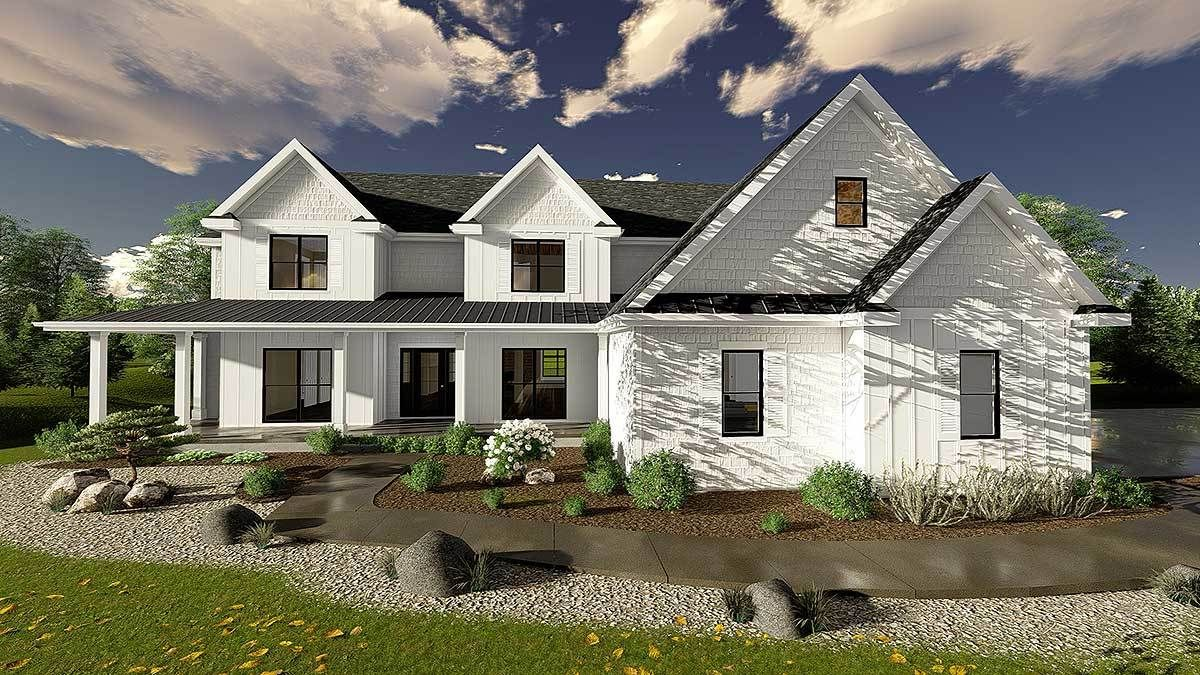 Superb 5 Bedroom Modern Farmhouse Plan   62665DJ | 2nd Floor Laundry, Butler  Walk In Pantry, CAD Available, Country, Den Office Library Study, Farmhouse,  Loft, ...