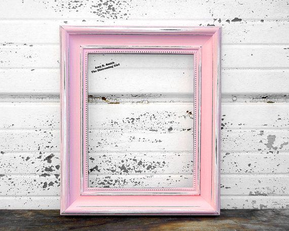 Pink 8x10 Picture Frame Rustic 2 Thick by TheDistressingGirl, $40.00 ...