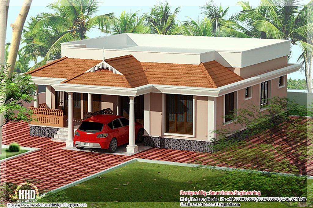 Single floor Kerala villa   Kerala house design, House ...