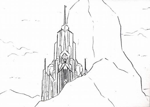 Frozen Ice Castle Sketch By Doraemonbasil On Deviantart Castle Coloring Page Castle Sketch Frozen Castle