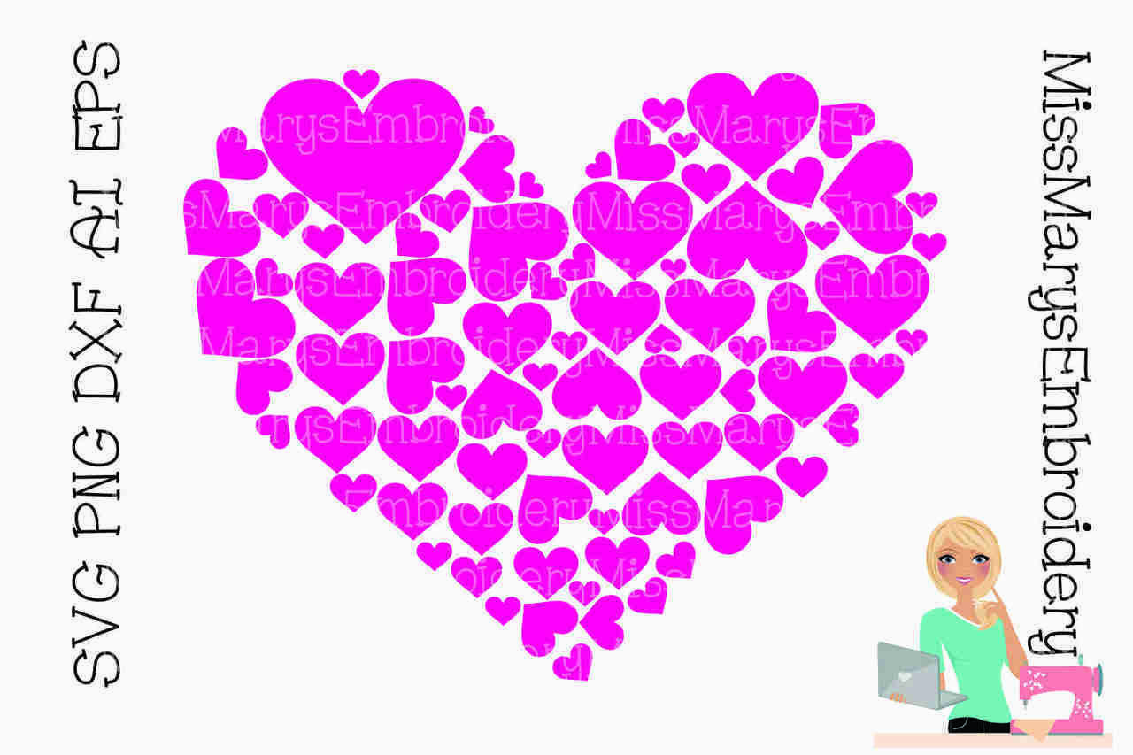Heart Full of Hearts SVG | Cutting Files | Design files