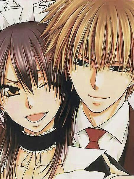 "Misaki Ayuzawa and Usui Takumi from Fujiwara Hiro's manga/ anime, ""Kaichou Wa Maid-sama"" (2014, ongoing)."