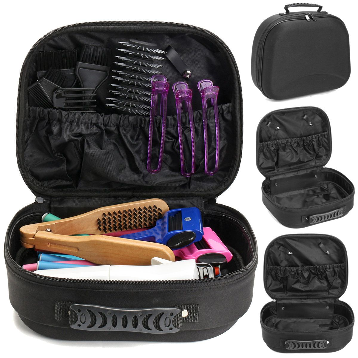 Hair Salon Tools Organizer Bag Barber Scissors Combs Storage Pouch Hairdressing Case Holder Hair Salon Tools Storage Pouch Bag Organization