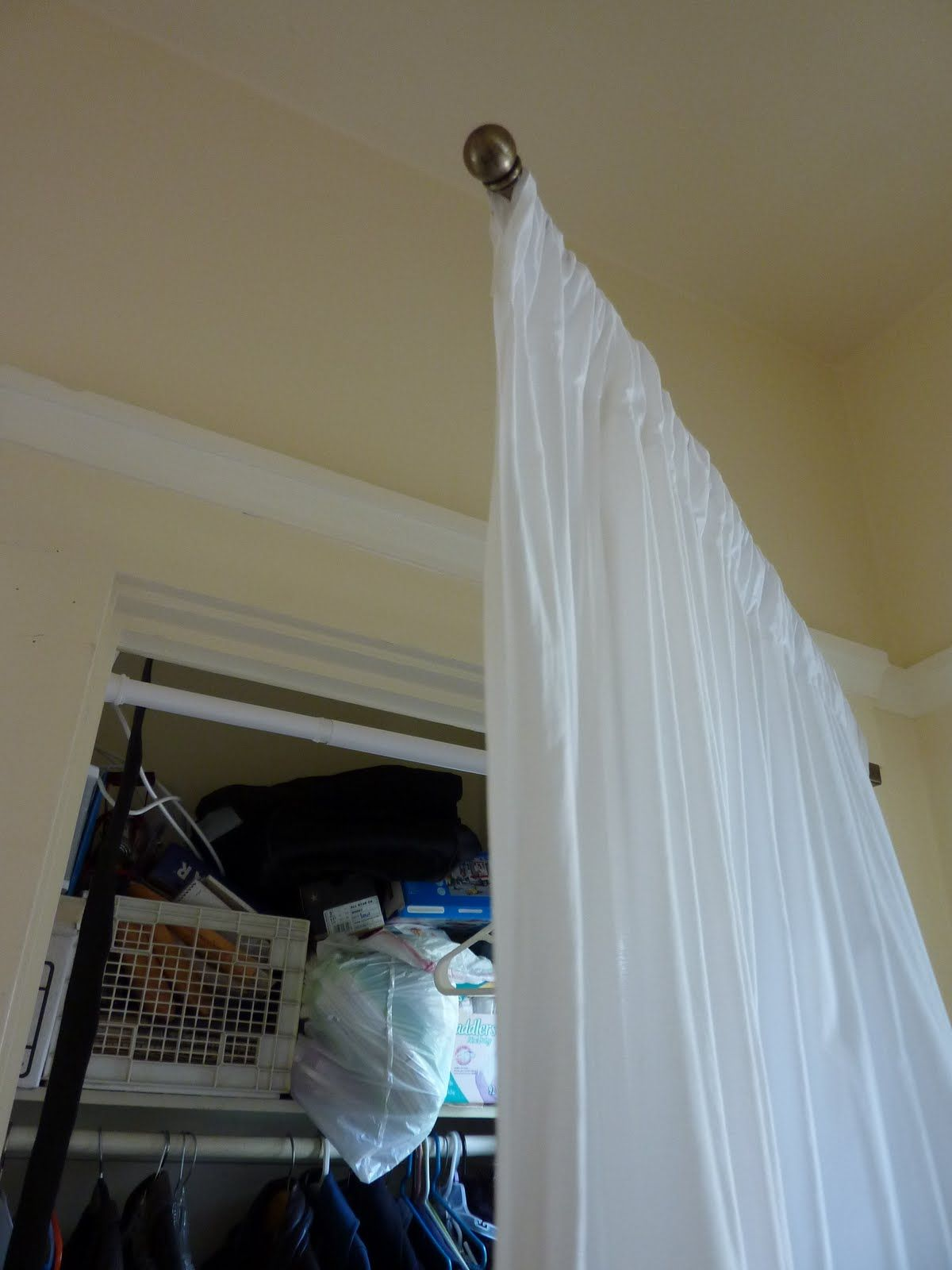 swing arm curtain rod for closet
