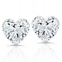 Heart Shape Diamond Studs