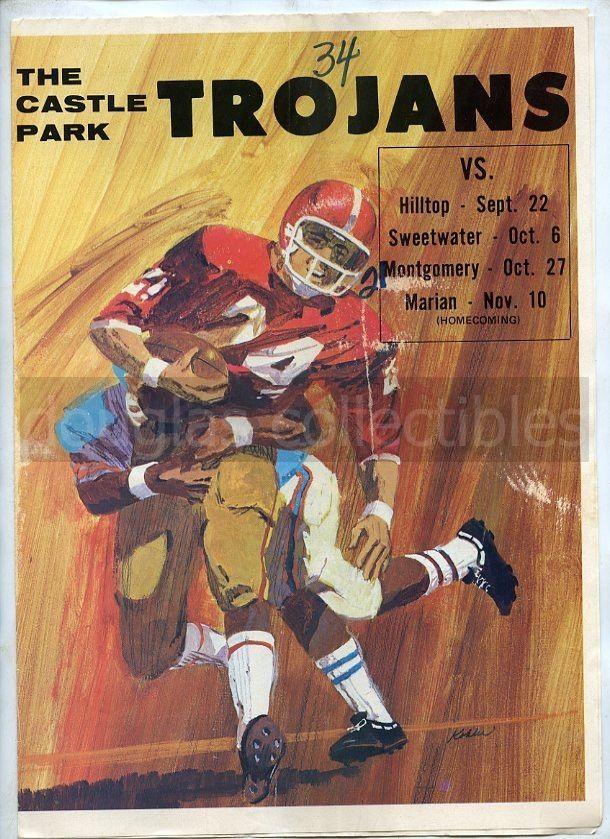 1972 High School Football Program Chicago Bears Coach John Fox