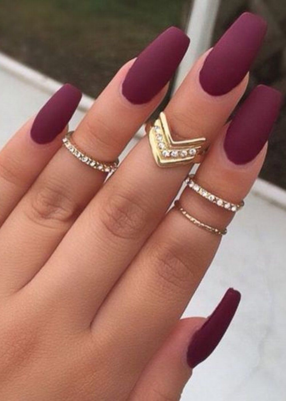 Nail Fall trend: matte nails