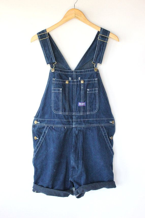 Vtg 50s Denim Overalls Shorts Faded Cut Off Union Made Dungarees Salopette hXtCN8ok