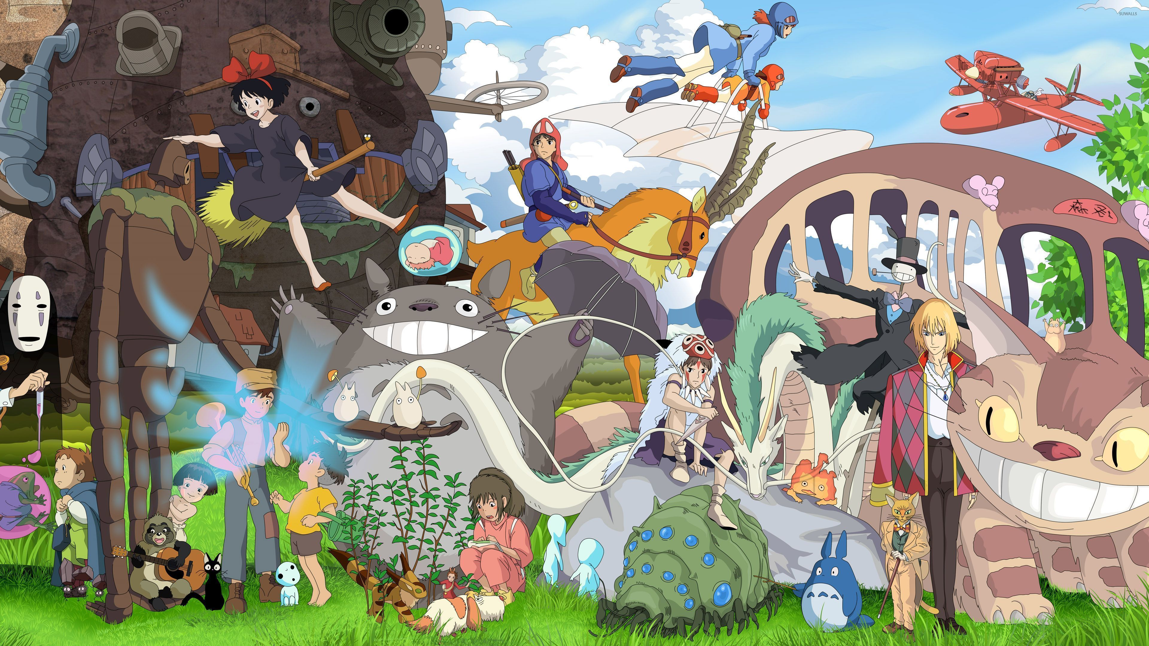 Studio Ghibli Desktop Wallpapers Top Free Studio Ghibli Desktop Backgrounds Wallpaperaccess Studio Ghibli Characters Studio Ghibli Movies Ghibli Movies
