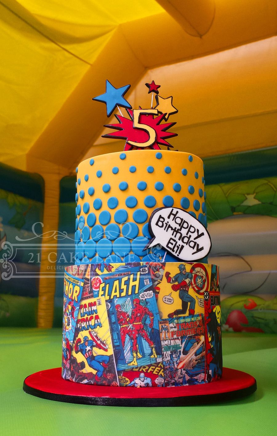 Comic Book Cake With Images Book Cakes Book Cake Marvel Cake