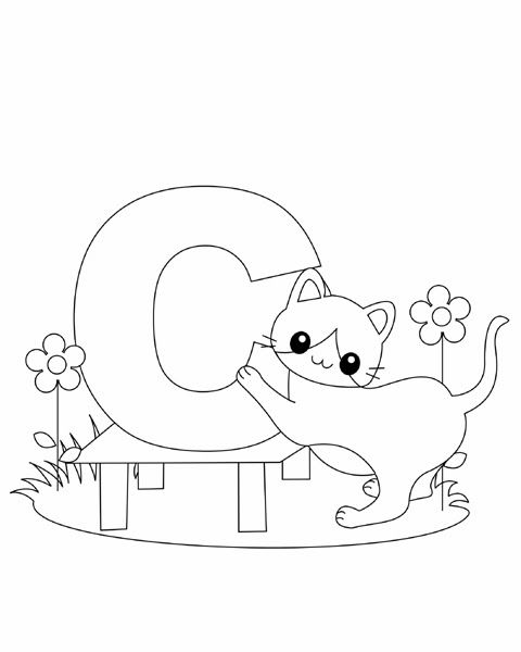 Letter C Coloring Page | ABC Coloring Pages | Alphabet coloring ...